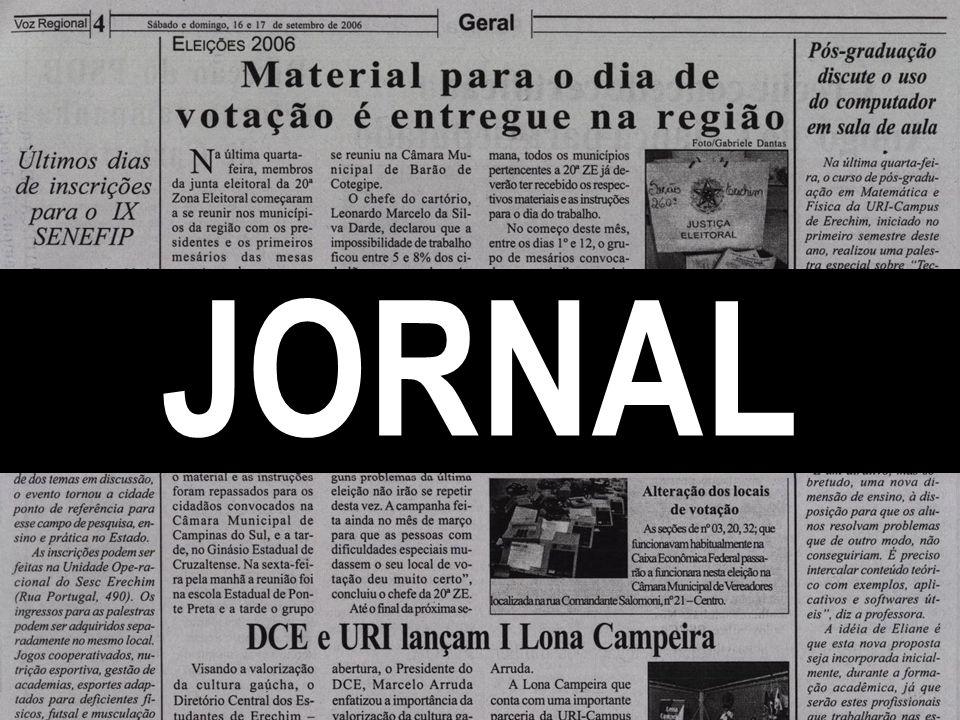 Jornal O jornal é um meio geralmente diário, de leitura mais dinâmica.
