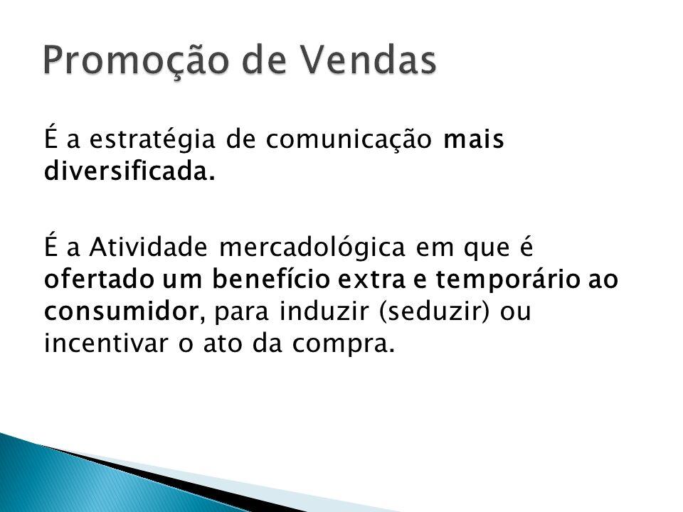 Plano de Promoção Para proporcionar um contato mais íntimo do produto com o consumidor (estímulo de vendas).