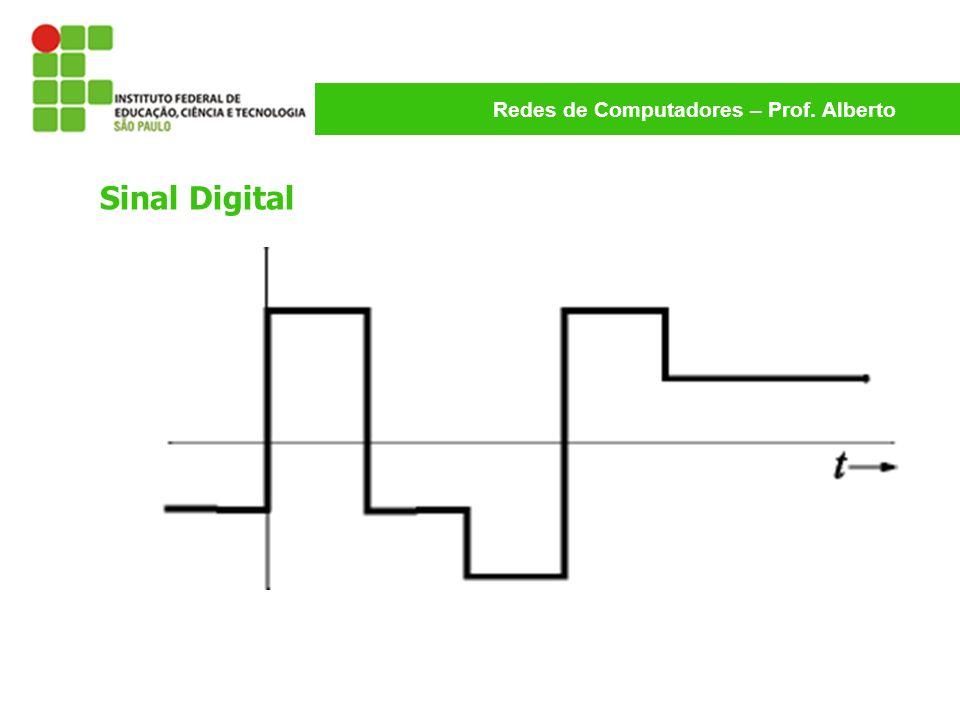 Redes de Computadores – Prof. Alberto Sinal Digital