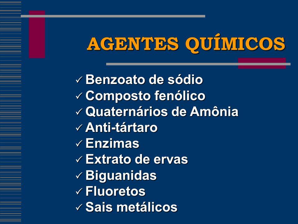 CLOREXIDINA EFEITOS COLATERAIS EFEITOS COLATERAIS Manchamento dos dentes e da língua.