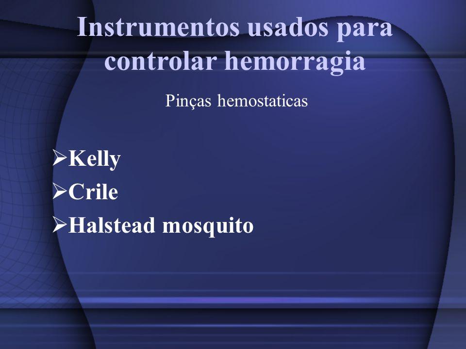 Instrumentos usados para controlar hemorragia Kelly Crile Halstead mosquito Pinças hemostaticas