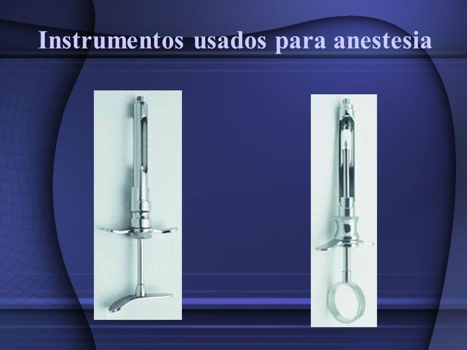 Instrumentos usados para anestesia