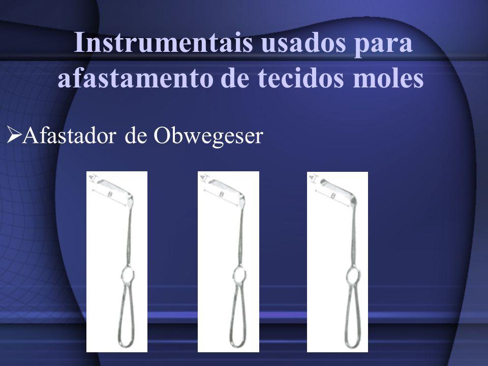 Instrumentais usados para afastamento de tecidos moles Afastador de Obwegeser