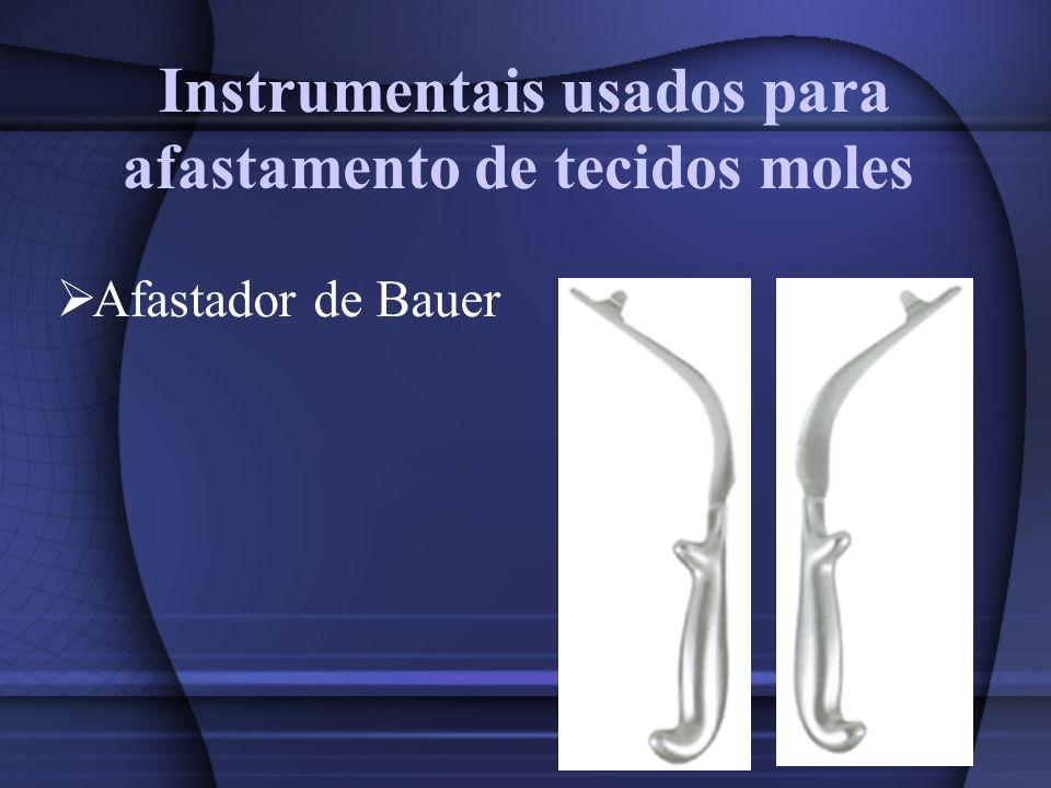 Instrumentais usados para afastamento de tecidos moles Afastador de Bauer
