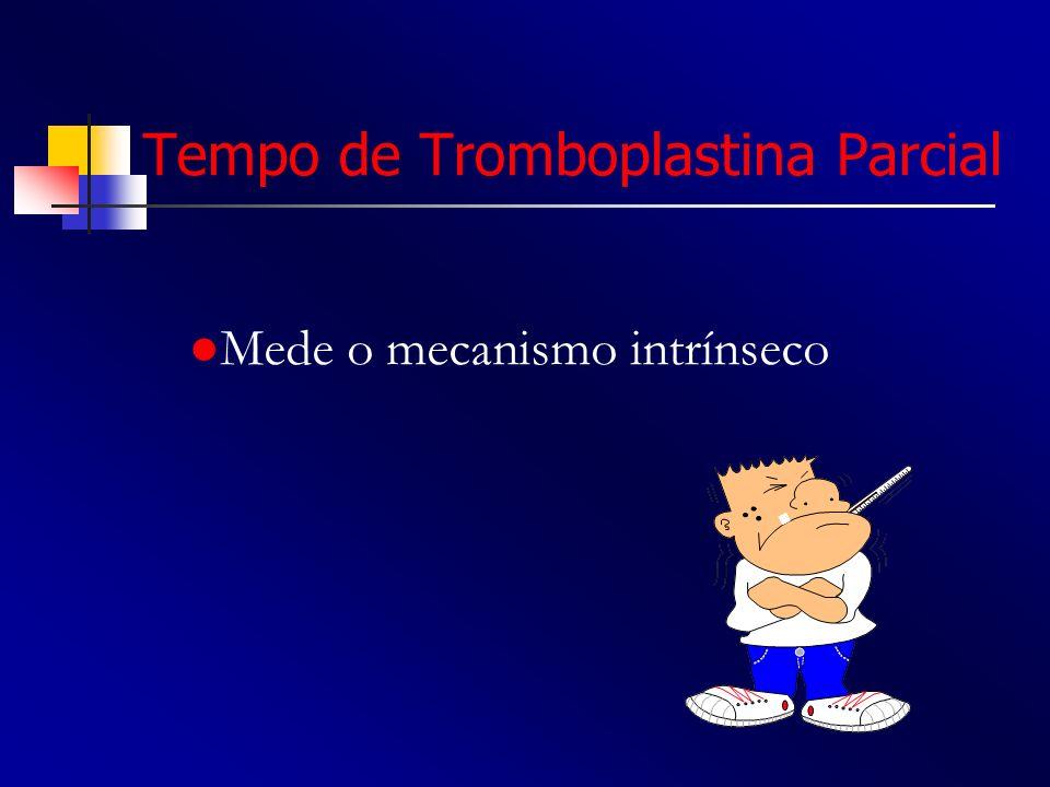 Tempo de Tromboplastina Parcial Mede o mecanismo intrínseco