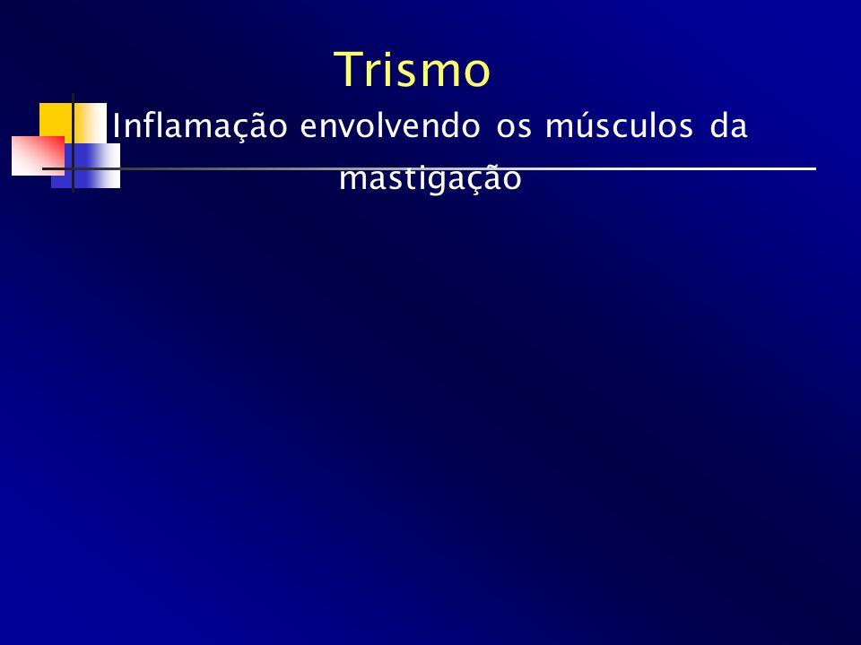 Trismo Inflamação envolvendo os músculos da mastigação