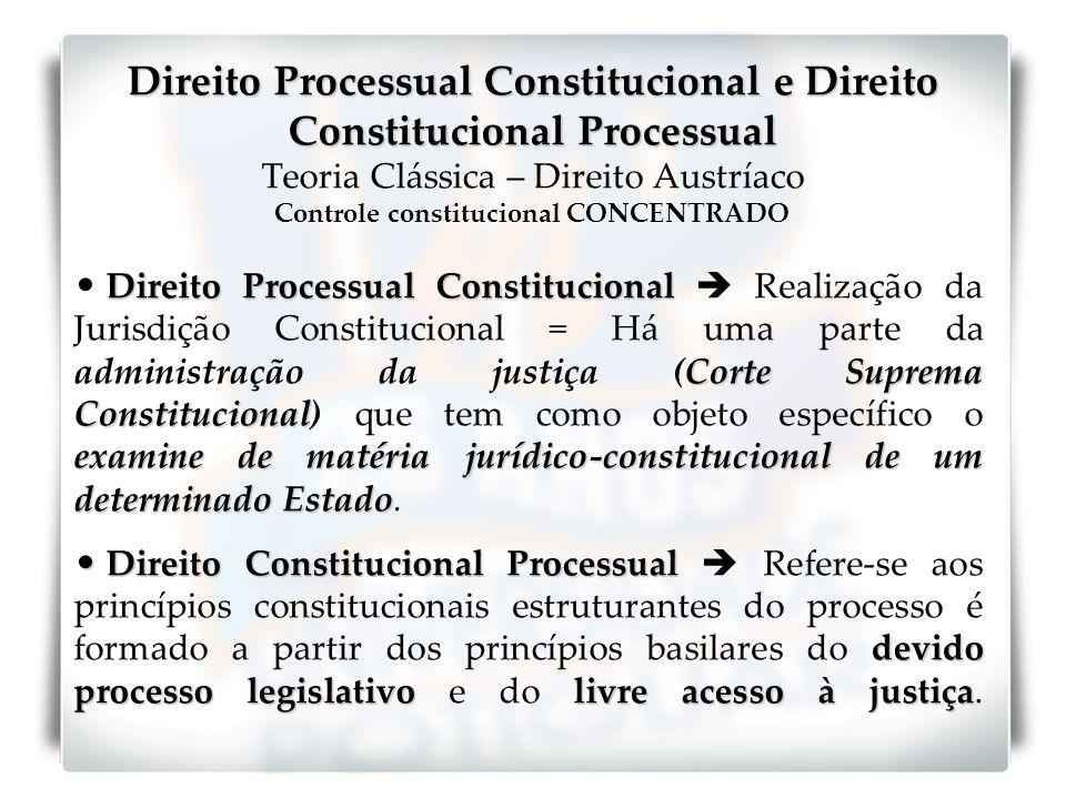 Direito Processual Constitucional e Direito Constitucional Processual Direito Processual Constitucional e Direito Constitucional Processual Teoria Clá