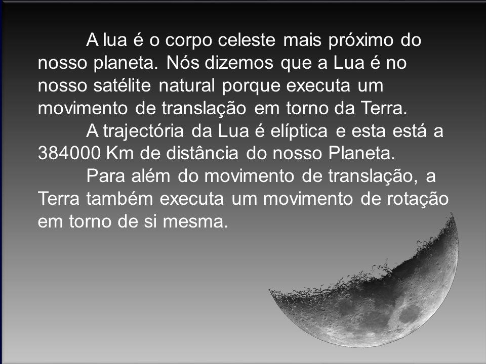(Para ouvir de novo deve clicar-se nos sininhos) É graças à interacção gravítica entre a Terra e a Lua que se torna possível o movimento de translação em torno da Terra.