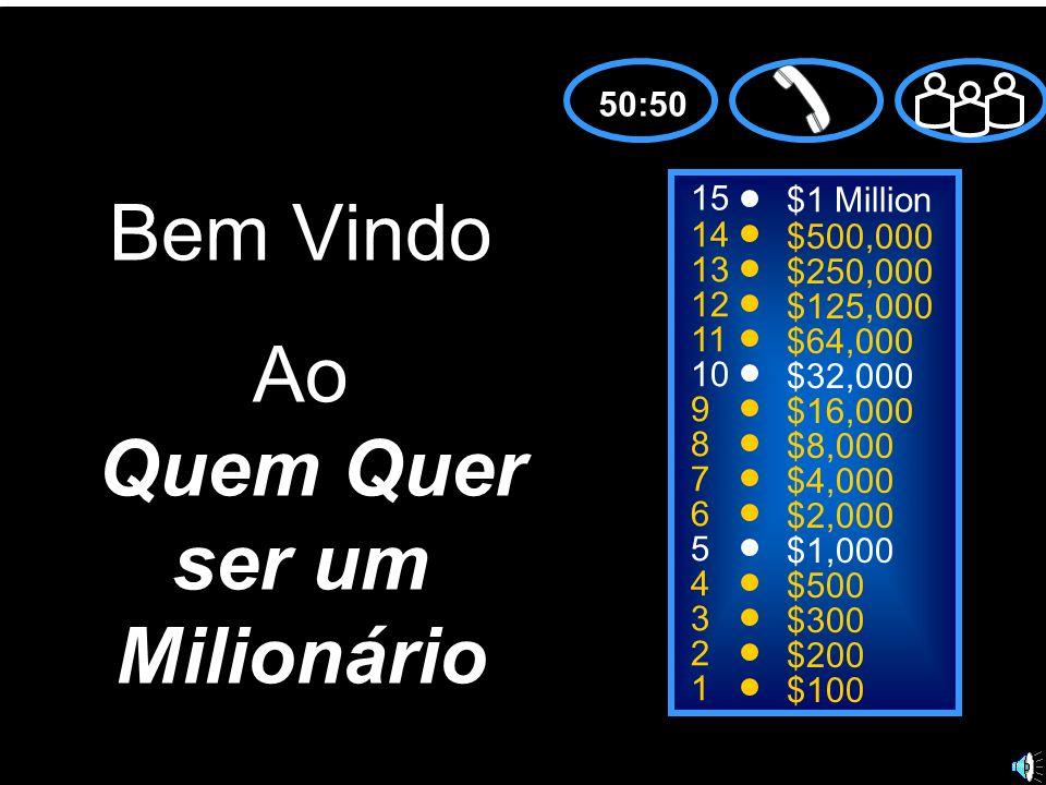 15 14 13 12 11 10 9 8 7 6 5 4 3 2 1 $1 Million $500,000 $250,000 $125,000 $64,000 $32,000 $16,000 $8,000 $4,000 $2,000 $1,000 $500 $300 $200 $100 50:5