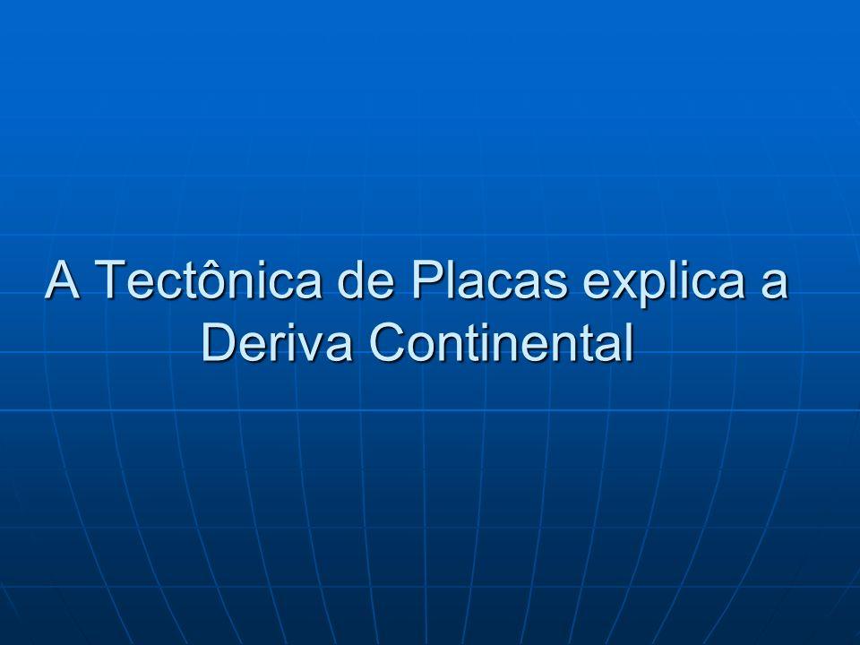 A Tectônica de Placas explica a Deriva Continental