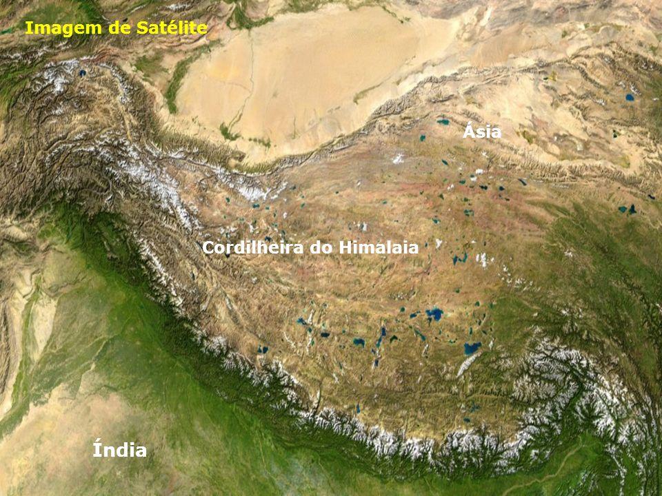 Imagem de Satélite Cordilheira do Himalaia Índia Ásia