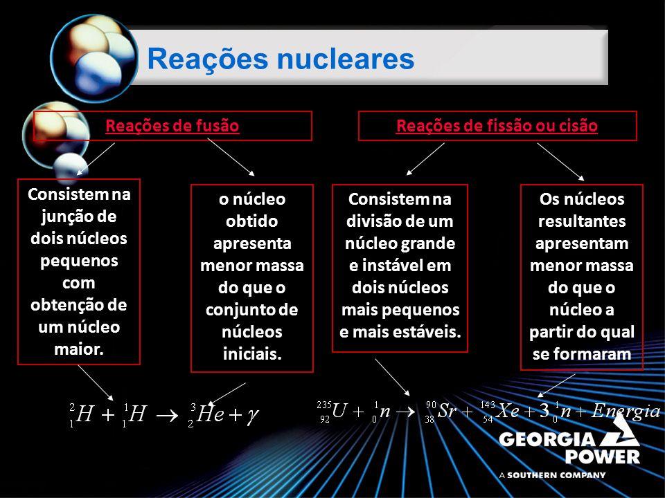 Consistem na junção de dois núcleos pequenos com obtenção de um núcleo maior.