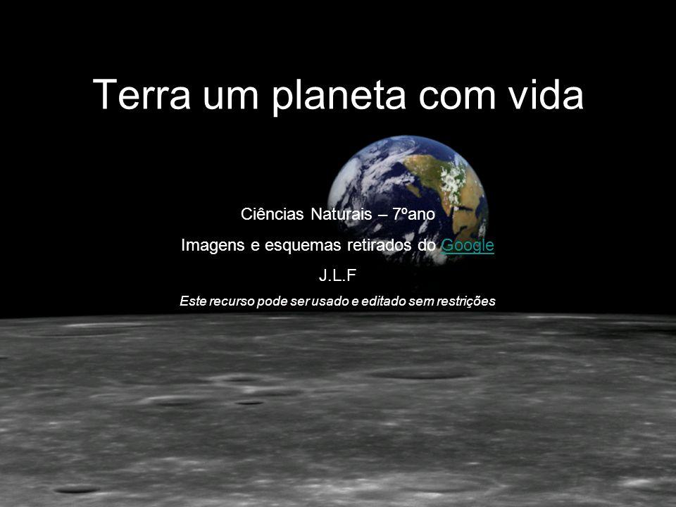 Ciências Naturais – 7ºano Imagens e esquemas retirados do GoogleGoogle J.L.F Este recurso pode ser usado e editado sem restrições Terra um planeta com