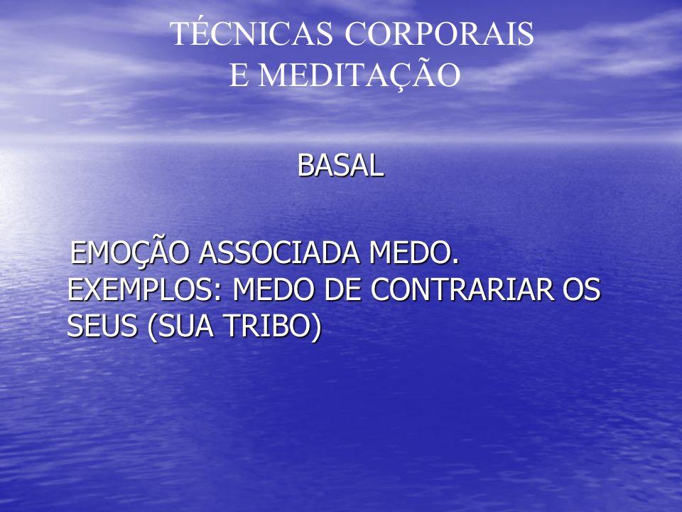 TÉCNICAS CORPORAIS E MEDITAÇÃO BASAL BASAL EMOÇÃO ASSOCIADA MEDO.