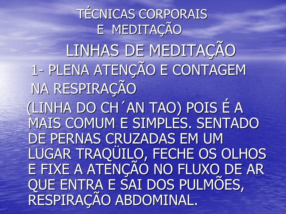 TÉCNICAS CORPORAIS E MEDITAÇÃO TÉCNICAS CORPORAIS E MEDITAÇÃO MEDITAÇÃO COM MANTRAS MEDITAÇÃO COM MANTRAS 2- UTILIZAÇÃO DO CENTRO LARÍNGEO NA 2- UTILIZAÇÃO DO CENTRO LARÍNGEO NA ENTONAÇÃO DE SONS, EXEMPLOS: ENTONAÇÃO DE SONS, EXEMPLOS: - MEDITAÇÃO TAOISTA UTILIZANDO MANTRAS QUE - MEDITAÇÃO TAOISTA UTILIZANDO MANTRAS QUE ESTIMULAM OS CENTROS DE ENERGIA E OS ESTIMULAM OS CENTROS DE ENERGIA E OS ÓRGÃOS.