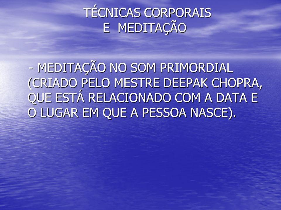 TÉCNICAS CORPORAIS E MEDITAÇÃO TÉCNICAS CORPORAIS E MEDITAÇÃO HARMONIZAÇÃO DO CENTRO DE ENERGIA HARMONIZAÇÃO DO CENTRO DE ENERGIA FRONTAL FRONTAL PECULIARIDADES DESTE CENTRO DE ENERGIA PECULIARIDADES DESTE CENTRO DE ENERGIA CORRESPONDE AO YIN TANG, COM VELOCIDADE DE 96 ROTAÇÕES POR SEGUNDO.