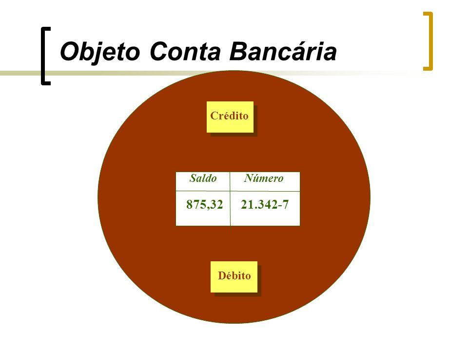 Número Saldo 21.342-7 875,32 Crédito Débito Objeto Conta Bancária