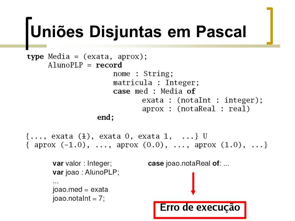 Uniões Disjuntas em Pascal