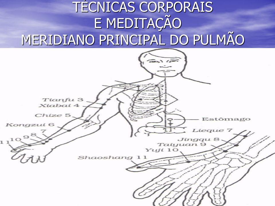 TÉCNICAS CORPORAIS E MEDITAÇÃO MERIDIANO PRINCIPAL DO PULMÃO TÉCNICAS CORPORAIS E MEDITAÇÃO MERIDIANO PRINCIPAL DO PULMÃO