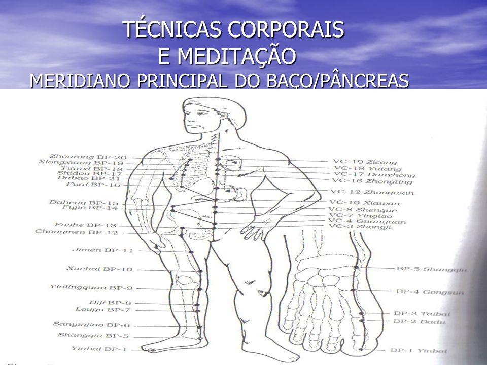 TÉCNICAS CORPORAIS E MEDITAÇÃO MERIDIANO PRINCIPAL DO BAÇO/PÂNCREAS TÉCNICAS CORPORAIS E MEDITAÇÃO MERIDIANO PRINCIPAL DO BAÇO/PÂNCREAS