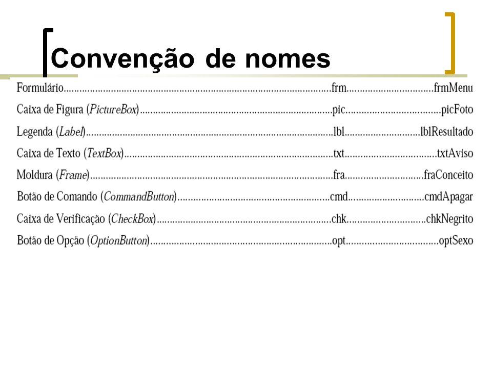 Convenção de nomes