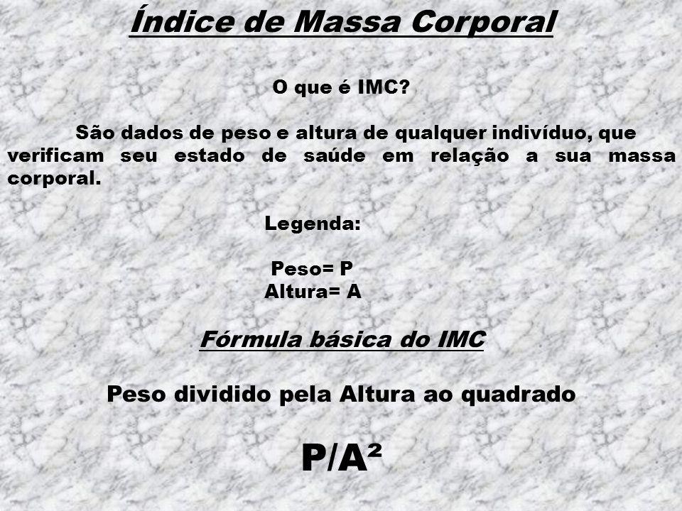 Índice de Massa Corporal O que é IMC.