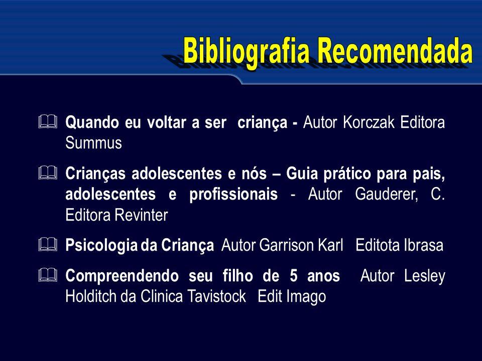 Quando eu voltar a ser criança - Autor Korczak Editora Summus Crianças adolescentes e nós – Guia prático para pais, adolescentes e profissionais - Aut