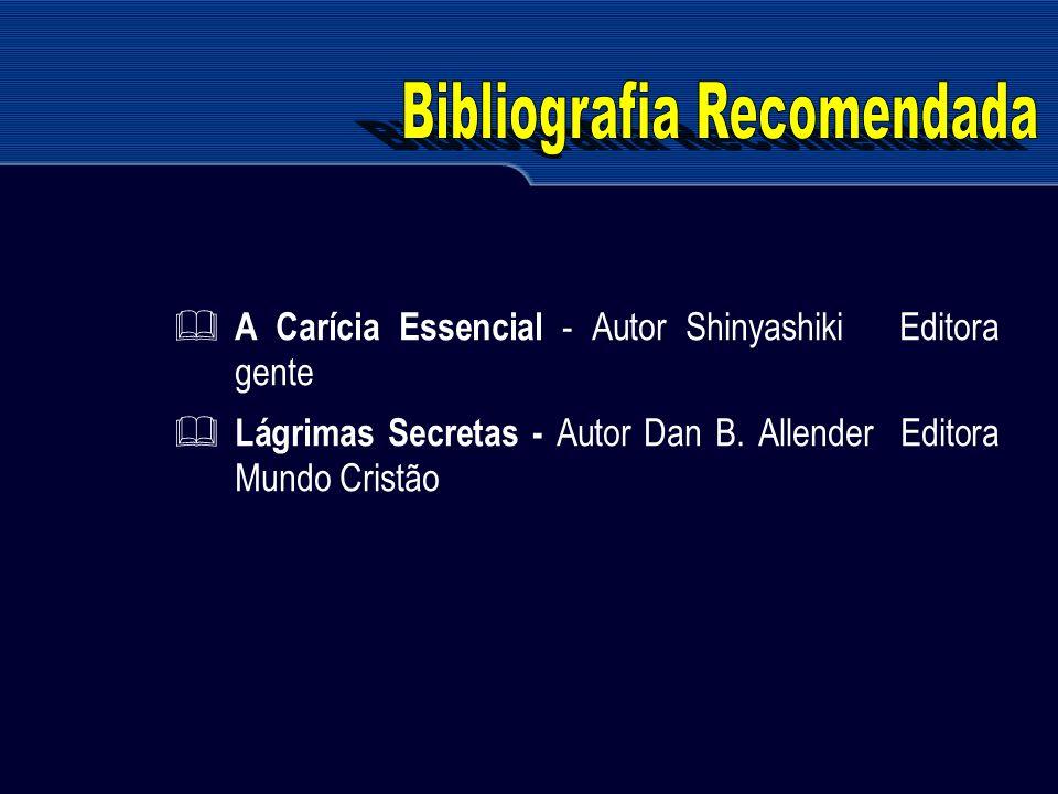 A Carícia Essencial - Autor Shinyashiki Editora gente Lágrimas Secretas - Autor Dan B. Allender Editora Mundo Cristão