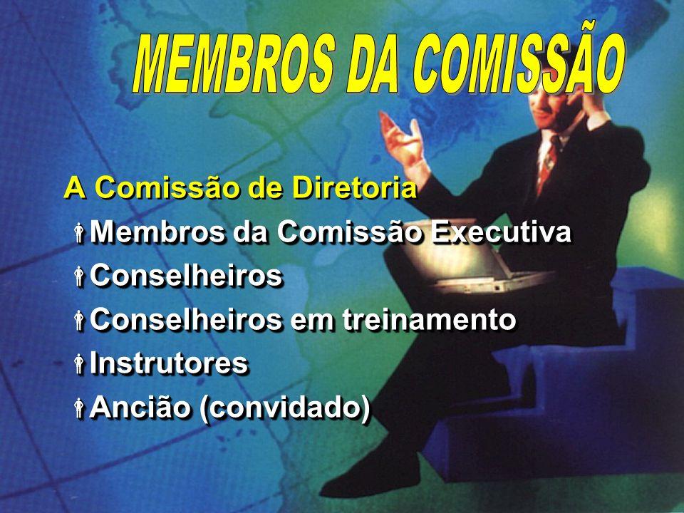 A Comissão de Diretoria Membros da Comissão Executiva Membros da Comissão Executiva Conselheiros Conselheiros Conselheiros em treinamento Conselheiros