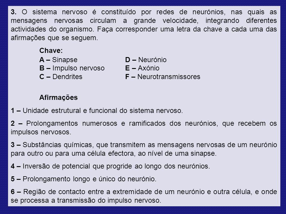 3. 1 – D; 2 – C; 3 – F; 4 – B; 5 – E; 6 – A. Resolução dos Exercícios