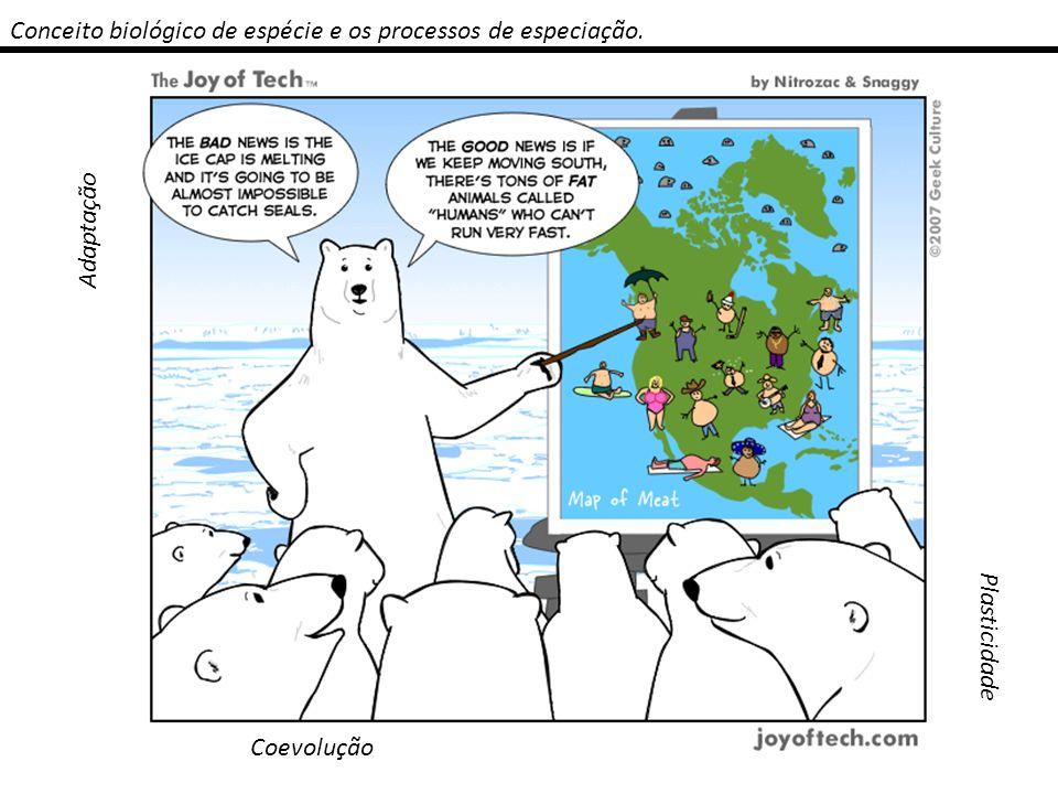 Conceito biológico de espécie e os processos de especiação. Adaptação Plasticidade Coevolução
