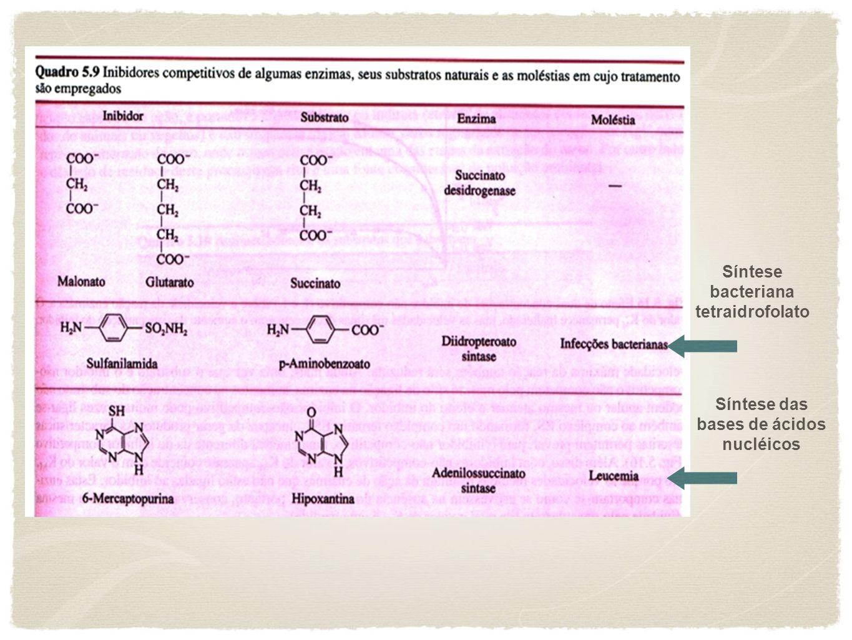Síntese bacteriana tetraidrofolato Síntese das bases de ácidos nucléicos