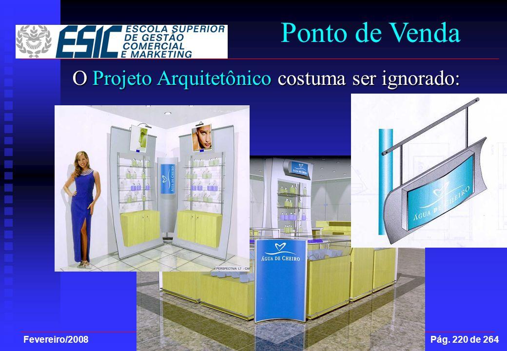 Fevereiro/2008 Arquivo: C:\MEUSDOCUMENTOS\PPT\IntroMktESIC Pág. 220 de 264 Ponto de Venda O Projeto Arquitetônico costuma ser ignorado: