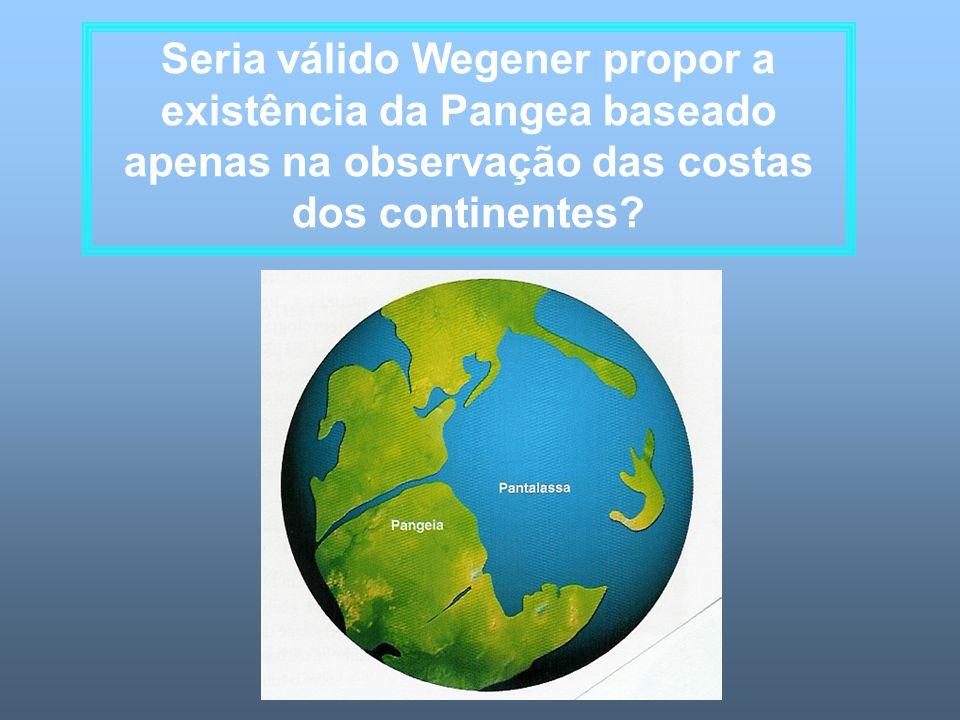 Seria válido Wegener propor a existência da Pangea baseado apenas na observação das costas dos continentes?