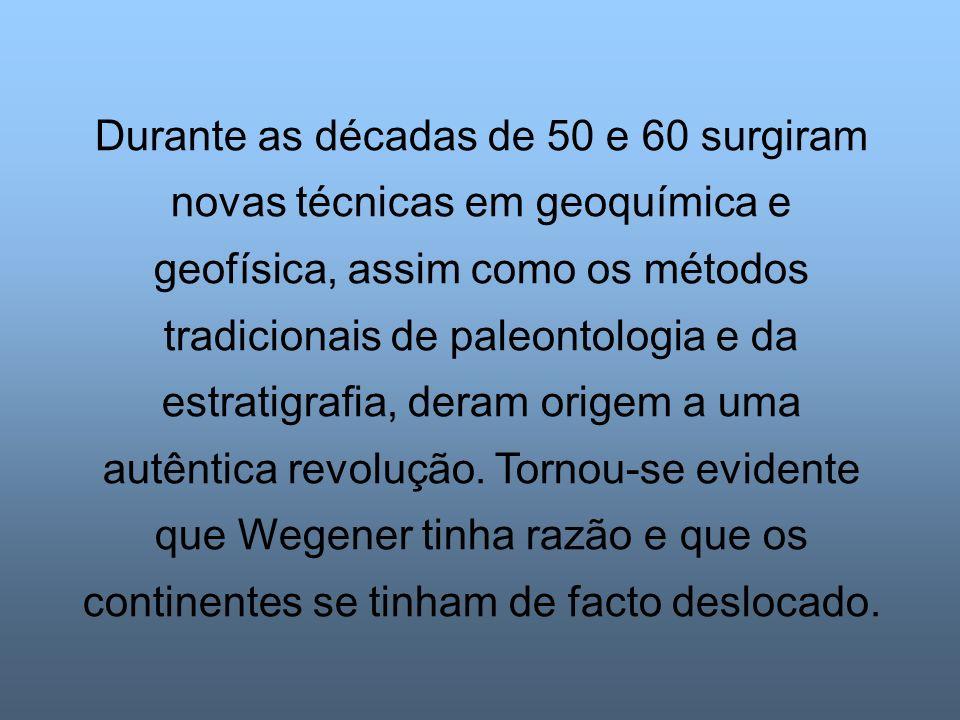 Durante as décadas de 50 e 60 surgiram novas técnicas em geoquímica e geofísica, assim como os métodos tradicionais de paleontologia e da estratigrafi