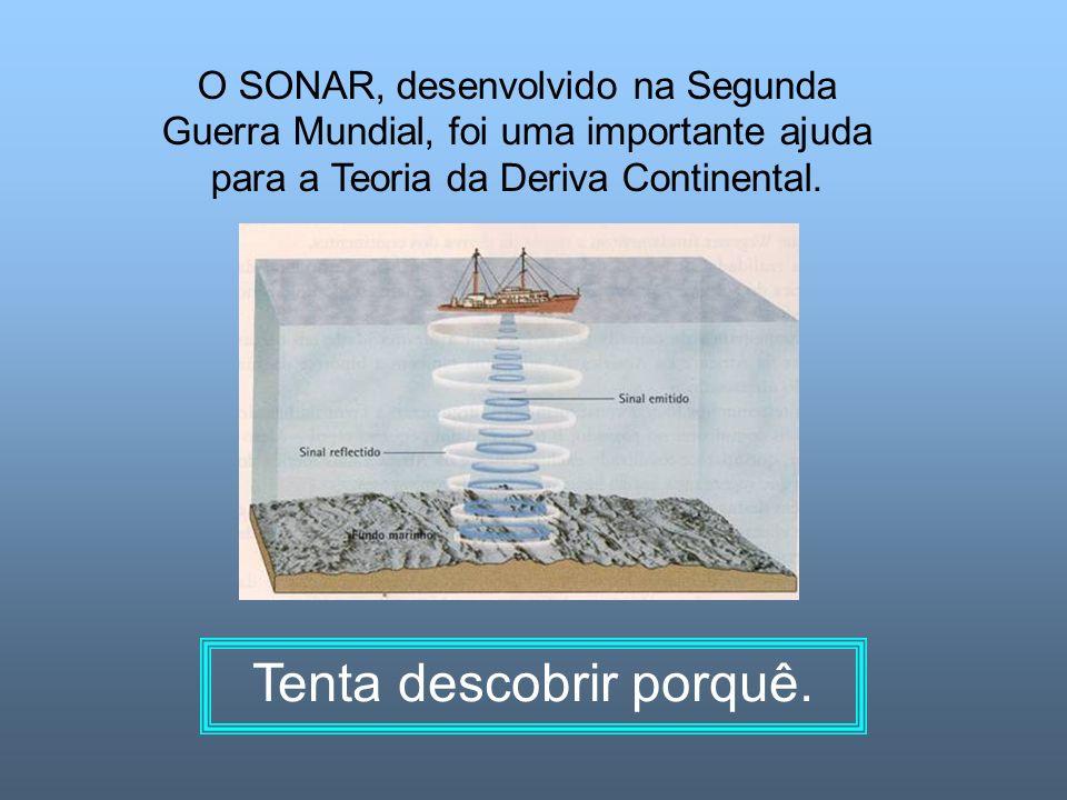O SONAR, desenvolvido na Segunda Guerra Mundial, foi uma importante ajuda para a Teoria da Deriva Continental. Tenta descobrir porquê.
