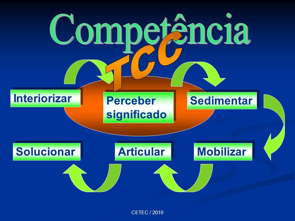 CETEC / 2010 Interiorizar Perceber significado Sedimentar Mobilizar Articular Solucionar