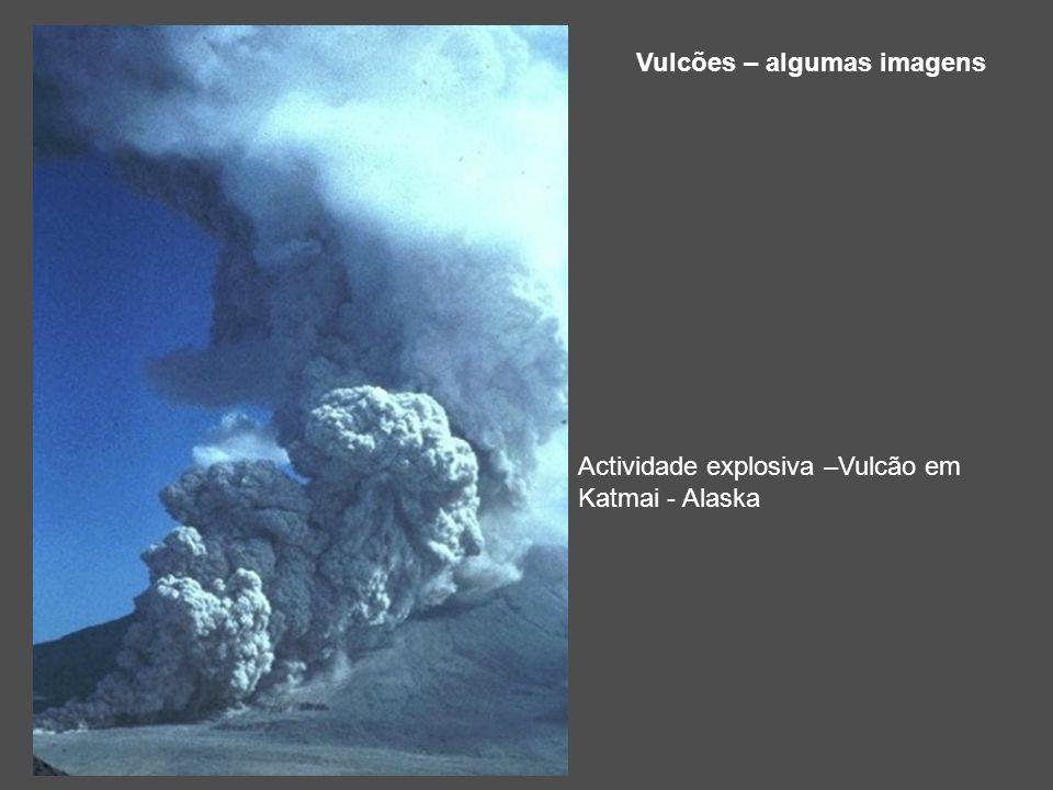 Vulcões – algumas imagens Actividade explosiva –Vulcão em Katmai - Alaska