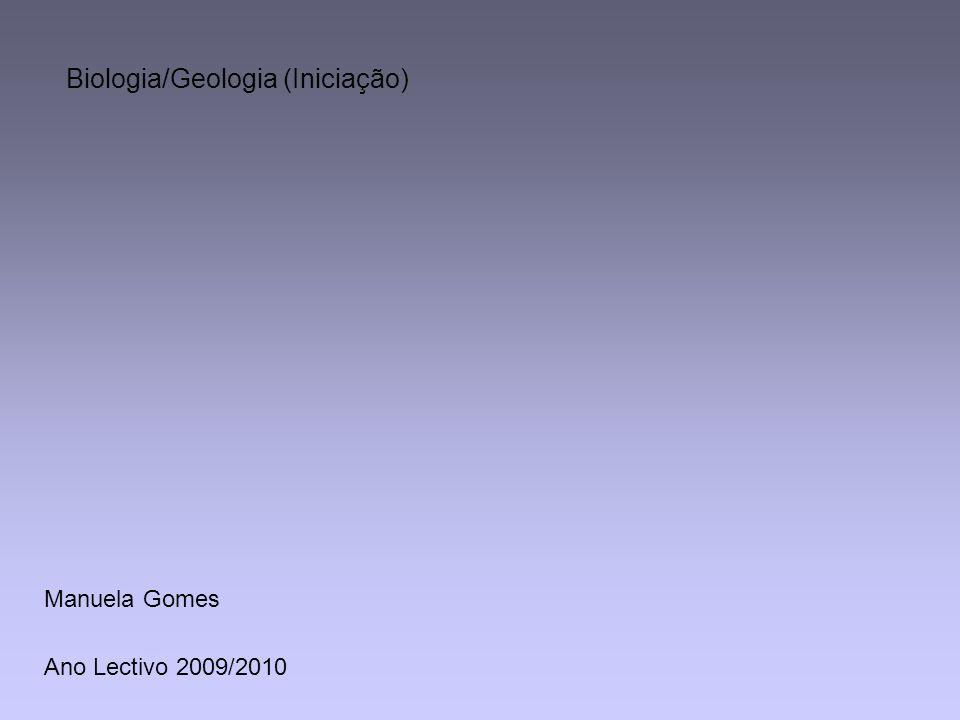 Ano Lectivo 2009/2010 Biologia/Geologia (Iniciação) Manuela Gomes