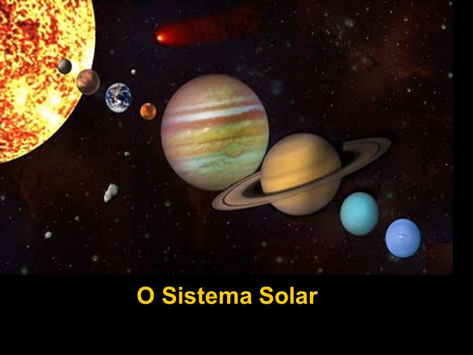 Apresenta anéis de gases congelados e partículas rochosas Atmosfera: densa constituída essencialmente por Hidrogénio Período orbital (ano em Saturno): 29,46 anos terrestres