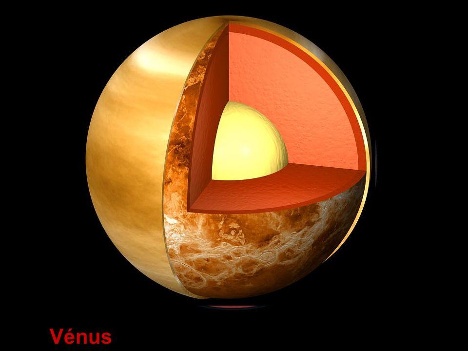 Atmosfera:muito densa, constituída essencialmente por CO 2 Temperatura:muito elevada – aproximadamente 464ºC Período de rotação:retrógrado O mais surpreendente em Vénus é que o seu passado é muito semelhante ao da Terra, pensando-se inclusive que em tempos terá tido oceanos, antes de ser dominado pelo efeito de estufa.