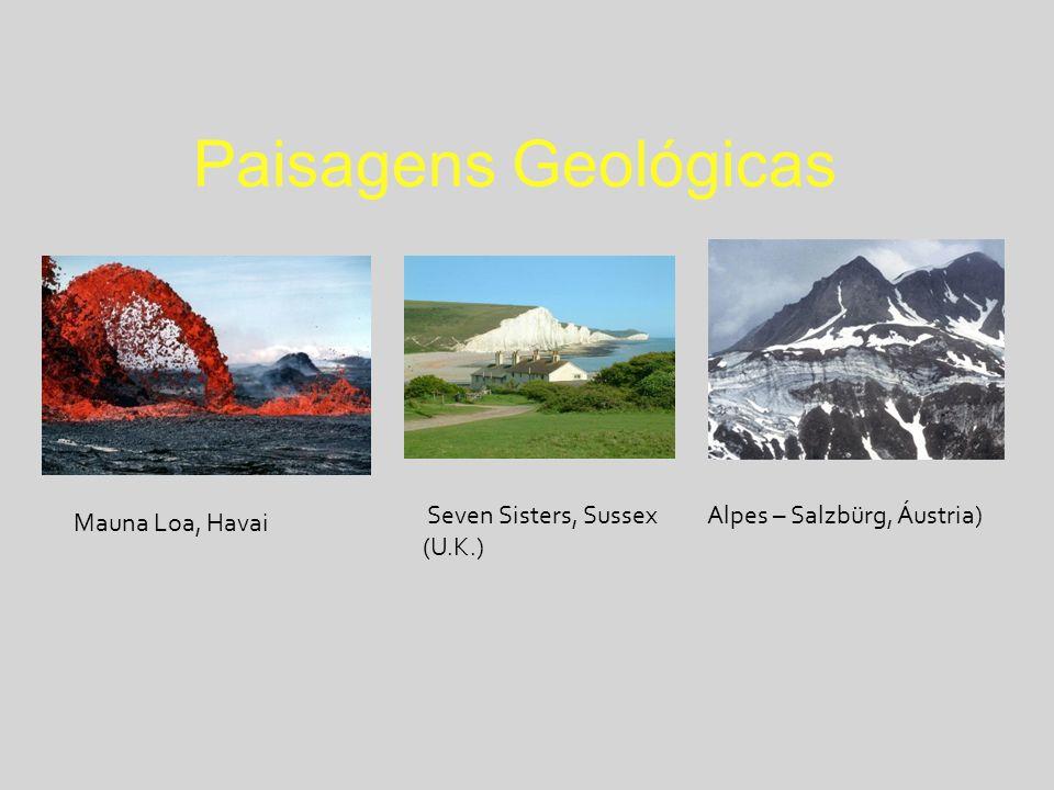 Paisagens Geológicas Alpes – Salzbürg, Áustria) Seven Sisters, Sussex (U.K.) Mauna Loa, Havai
