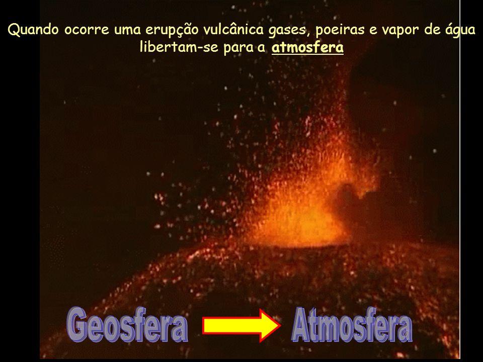 Os subsistemas da Terra estão interligados! Alterações num deles provocam modificações no outro!