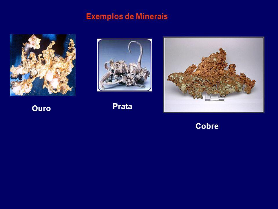 Exemplos de Minerais Ouro Prata Cobre