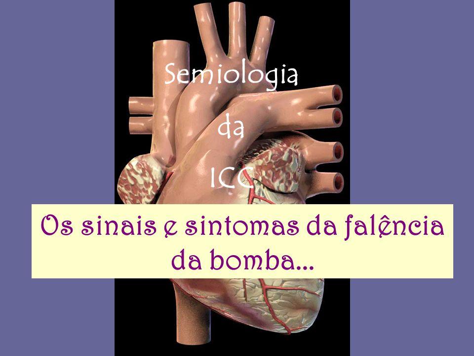Semiologia da ICC Os sinais e sintomas da falência da bomba...