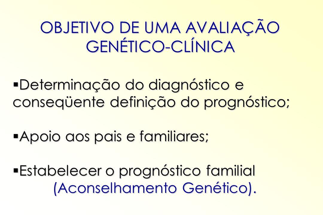 Determinação do diagnóstico e conseqüente definição do prognóstico; Determinação do diagnóstico e conseqüente definição do prognóstico; Apoio aos pais