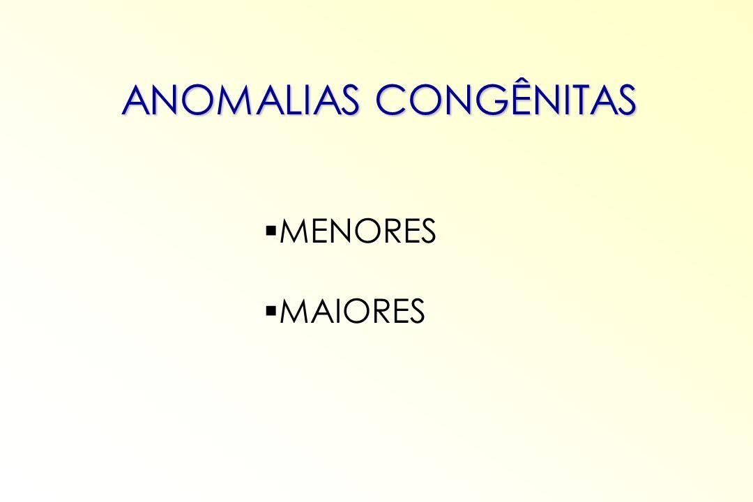 MENORES MENORES MAIORES MAIORES ANOMALIAS CONGÊNITAS