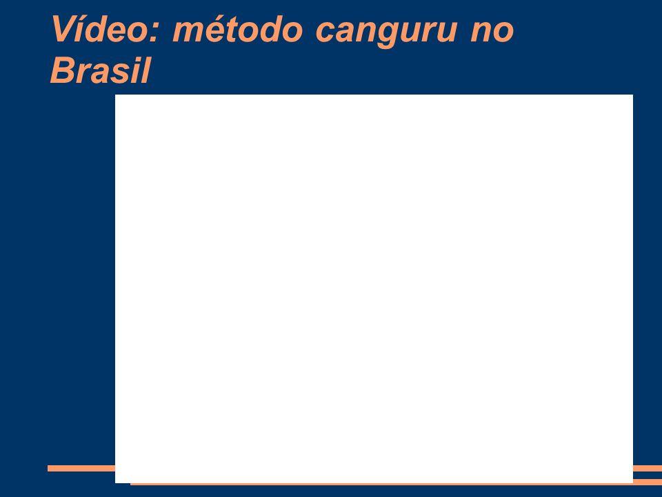 Vídeo: método canguru no Brasil