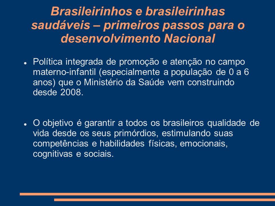 Brasileirinhos e brasileirinhas saudáveis – primeiros passos para o desenvolvimento Nacional Política integrada de promoção e atenção no campo materno