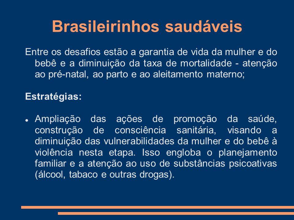 Brasileirinhos saudáveis Entre os desafios estão a garantia de vida da mulher e do bebê e a diminuição da taxa de mortalidade - atenção ao pré-natal,